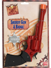 Wild West Western Gun & Badge Set